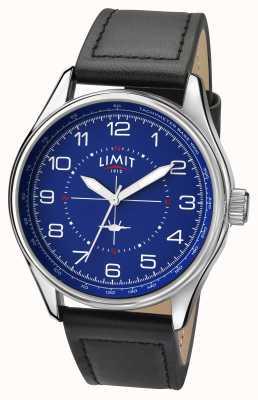 Limit Mens Pilot Black Strap Blue Dial 5618.01