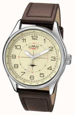 Limit Mens Pilot Brown Strap Cream Dial 5619.01