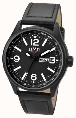 Limit Mens Pilot Black Strap Black Dial 5621.01
