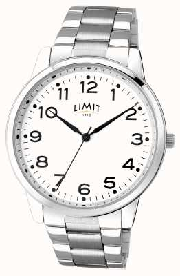 Limit Mens Stainless Steel White Dial 5624.01