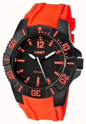 Limit Mens Active Orange Strap Black Dial 5547.02
