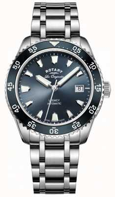 Rotary Mens Blue Dial Stainless Steel Strap GB90168/05