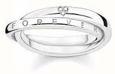 Thomas Sabo Sterling Silver Ring 54 D_TR0017-725-14-54
