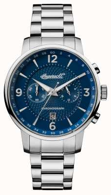 Ingersoll Mens 1892 The Grafton Stainless Steel Blue Dial I00604