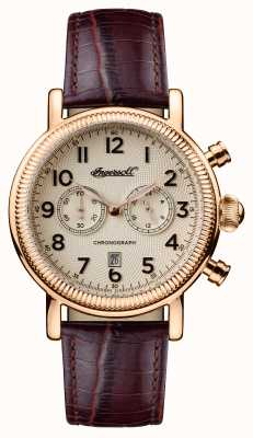 Ingersoll Mens 1892 The Daniels Brown Leather Strap I01001