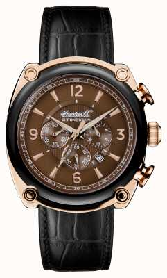 Ingersoll Mens 1892 The Michigan Black Leather Strap I01202