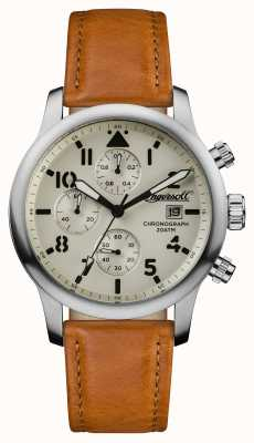 Ingersoll Mens Discovery The Hatton Brown Leather Strap I01501