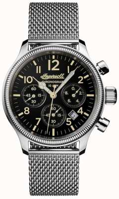 Ingersoll Mens Discovery The Apsley Stainless Steel Black Dial I02901