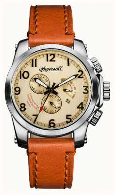 Ingersoll Mens Discovery The Manning Tan Leather Strap Cream Dial I03001