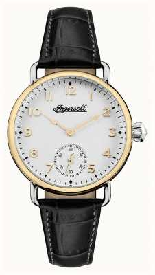 Ingersoll Womens Chronicle The Trenton Black Leather Strap White Dial I03602