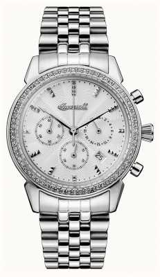 Ingersoll Womens Chronicle The Gem Stainless Steel Silver Dial I03903