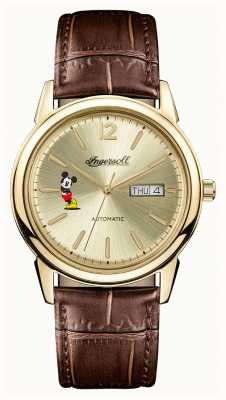 Ingersoll Mens Union The New Haven Disney Brown Leather Strap ID00202