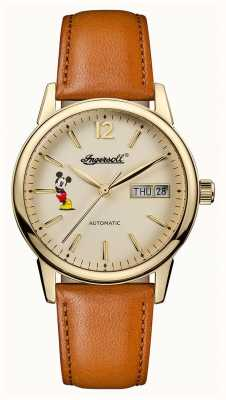 Ingersoll Womens Union The New Haven Disney Brown Leather Strap ID01101