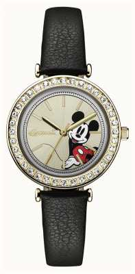 Ingersoll Womens Union The Disney Black Leather Strap Silver Dial ID00301