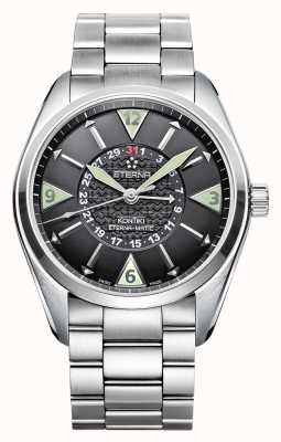 Eterna Mens Kontiki Four Hand Automatic Black Dial 1592.41.41.0217