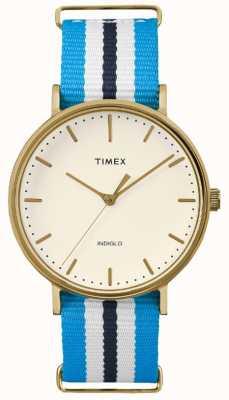 Timex Unisex Weekender Fairfax Blue White Strap TW2P91000