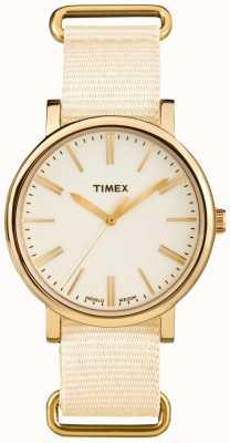 Timex Unisex Cream Dial Cream Fabric Strap TW2P88800