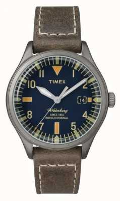 Timex Unisex The Waterbury Navy Dial Brown Strap TW2P84400