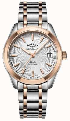 Rotary Womens Les Originales Legacy Automatic Two Tone Rose Gold LB90167/06