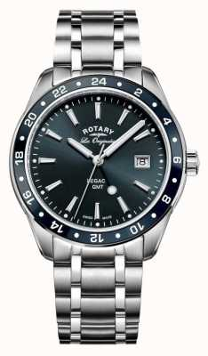 Rotary Mens Les Originales Legacy GMT Stainless Steel Blue Dial GB90172/05