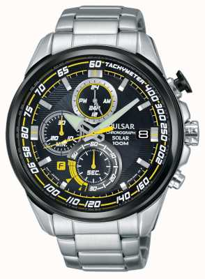 Pulsar Mens WRC Solar Accelerator Stainless Steel Chronograph PZ6003X1
