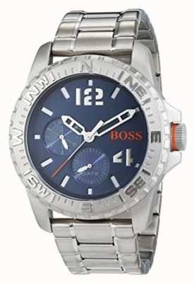 Hugo Boss Orange Mens Reykjavik Stainless Steel Bracelet Blue Dial 1513424