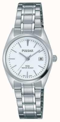 Pulsar Womens Stainless Steel Bracelet White Dial PH7439X1