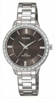 Pulsar Womens Stainless Steel Bracelet Brown Dial PH8215X1