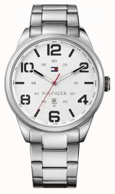 Tommy Hilfiger Mens Conner Stainless Steel Bracelet White Dial 1791159
