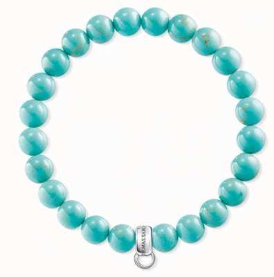 Thomas Sabo Turquoise Sterling Silver Bracelet X0213-404-17-L17,5