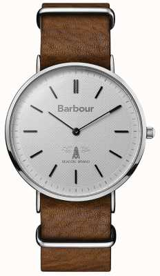Barbour Mens Hartley Grey Dial Tan Leather Strap BB055SLBR