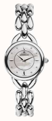Michel Herbelin Womens Stainless Steel Mother Of Pearl Dial 17475/B19