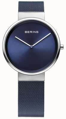 Bering Unisex Blue Iron Plated Steel Mesh Strap 14531-307