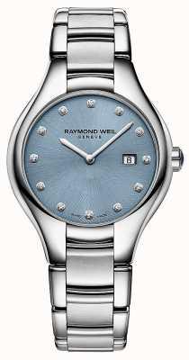 Raymond Weil Womans Noemia 12 Diamond Blue Dial 5132-ST-50081