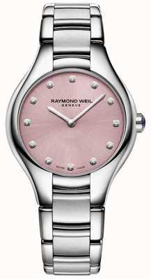 Raymond Weil Womans Noemia 12 Diamond Pink 5132-ST-80081