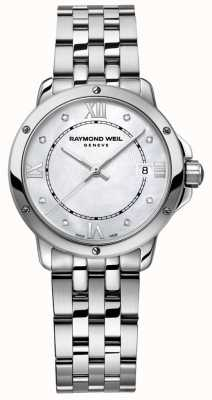 Raymond Weil Womans Tango Stainless Steel Dot Diamond Mother Of Pearl 5391-ST-00995