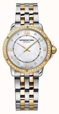 Raymond Weil Womans Tango Two Tone Diamond Dot Mother Of Pearl 5391-SPS-00995