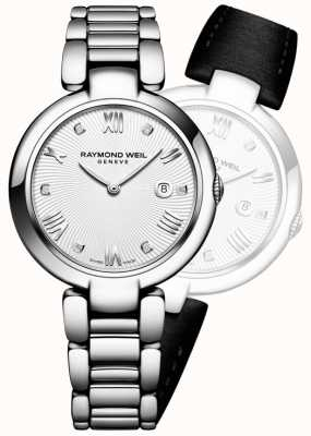 Raymond Weil Womans Shine Stainless Steel Silver Diamond 1600-ST-00618