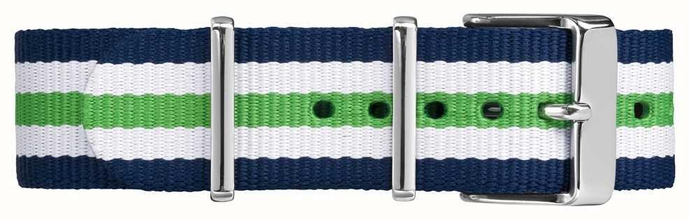 Timex Weekender Fairfield 20mm White Blue Green Strap TW7C07000