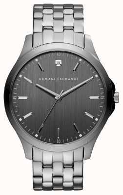 Armani Exchange Mens Gunmetal Grey Stainless Steel Watch AX2169