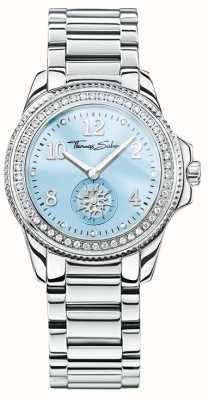 Thomas Sabo Womans Glam Chic Stainless Steel Blue Dial WA0254-201-209-33