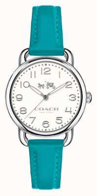 Coach Womens Delancey Blue Leather Strap White Dial 14502611