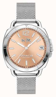 Coach Womens Tatum Stainless Steel Mesh Strap Rose Gold Dial 14502635