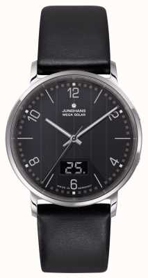 Junghans Milano Mega Solar Radio Controlled Leather Strap 056/4627.00