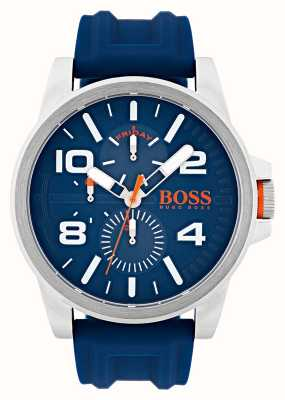 Hugo Boss Orange Detroit Blue Rubber Chronograph Watch 1550008