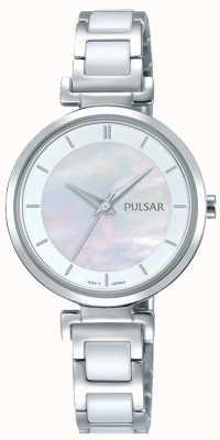Pulsar Ladies Stainless Steel Ceramic Pearl Dial PH8269X1