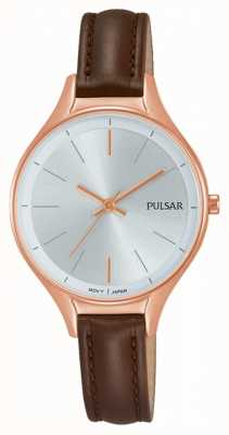 Pulsar Ladies Brown leather watch PH8282X1