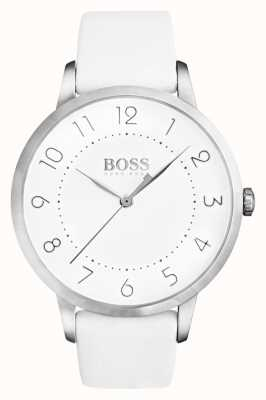 Boss Womens Eclipse White Leather Strap White Dial 1502409