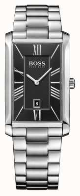 Hugo Boss Mens Admiral Stainless Steel Bracelet Black Dial 1513439