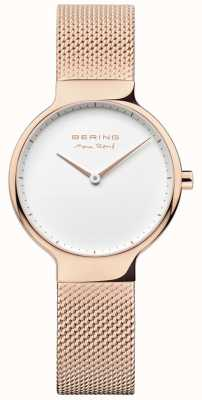 Bering Ladies Max René Interchangeable Mesh Strap Rose Gold 15531-364